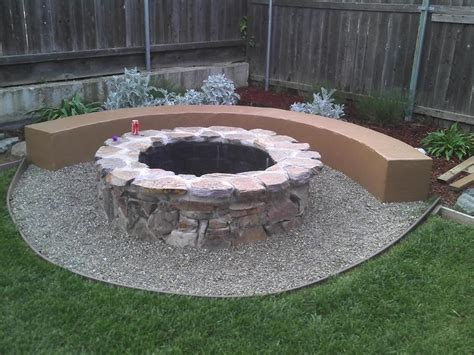 Outdoor How To Build A Fire Pit In Garden How To Build A How To Build A Backyard Firepit