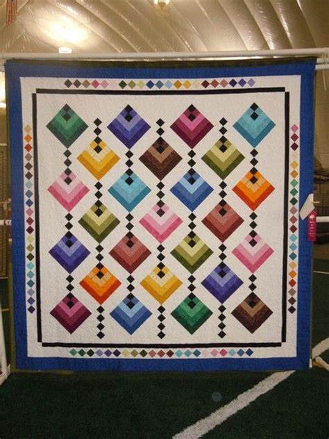 Half Log Cabin Quilt Pattern by Half Log Cabin Quilt Sewing Quilting