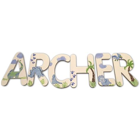 Letter Archer Archer Dinosaurs Painted Wall Letters Rosenberryrooms