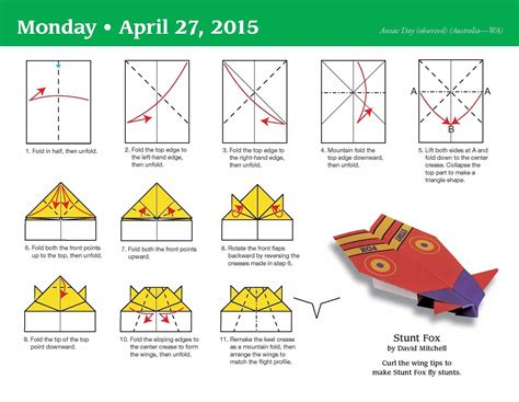 How Do You Fold A Paper Airplane - 2014 easy origami fold a day box calendar comot