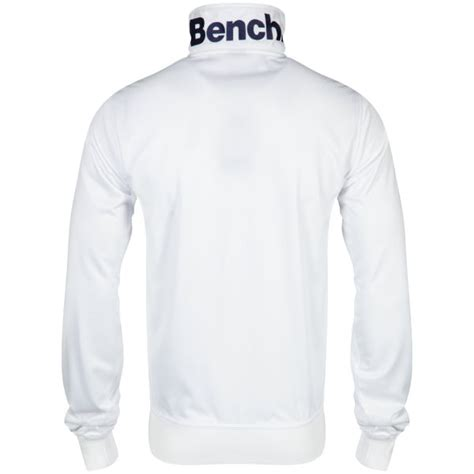 bench white jacket bench men s classic corp track jacket white clothing zavvi