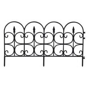 Home Depot Decorative Fence Emsco Fleur De Lis Medium 16 In Resin Garden Fence 12 Pack 2093hd The Home Depot