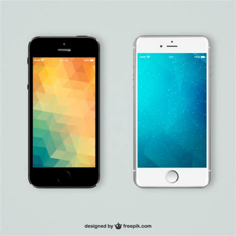mobile and free mobile mobiles phones with polygonal backgrounds vector free