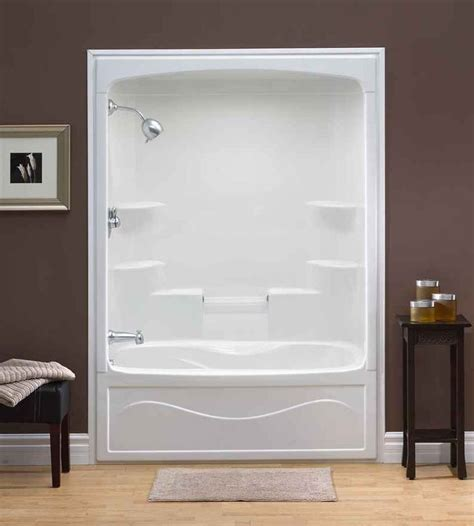 bathtub one piece one piece shower insert liberty 60 inch 1 piece acrylic