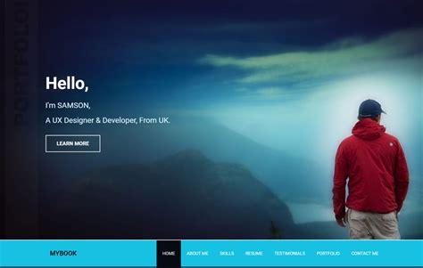 Mybook Portfolio Responsive Bootstrap Free Web Template Webthemez Software Developer Portfolio Template