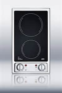 Glass Cooktop Buy Summit Cr2b120 Two Burner Black Ceramic Glass 120 Volt