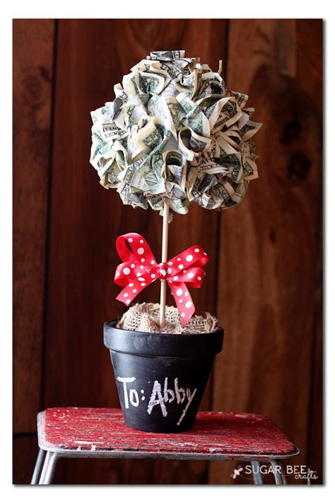 How To Get Cash Out Of A Gift Card - money topiary gift idea sugar bee crafts