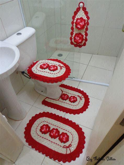Jogo De Almofada De Barbante | jogo de banheiro de barbante em croch 234 thelma salles