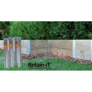 steel retaining uprights available from bunnings warehouse