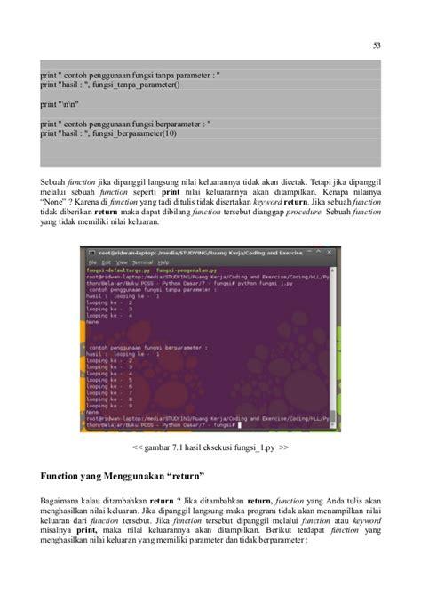 Dasar Pemrograman Phyton pemrograman python dasar