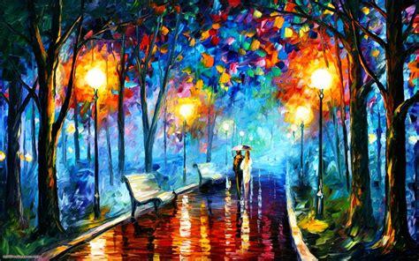 pareja en la pintura parque fondos de pantalla pareja en