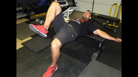 double bodyweight bench single leg hip thrust