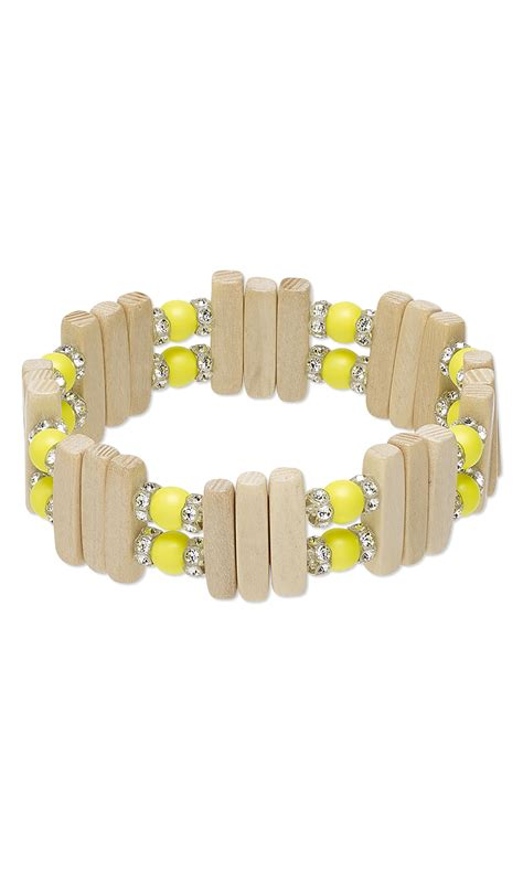 Jewelry Design   Bracelet with Swarovski Crystal and Wood Beads   Fire Mountain Gems and Beads