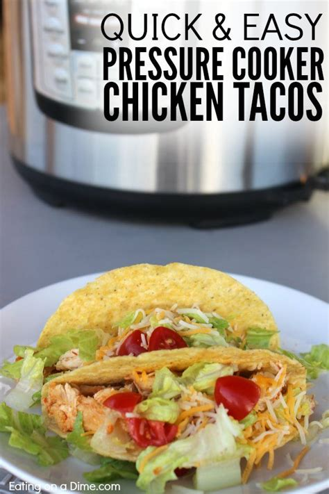 healthy chicken tacos pressure cooker recipe eating on a