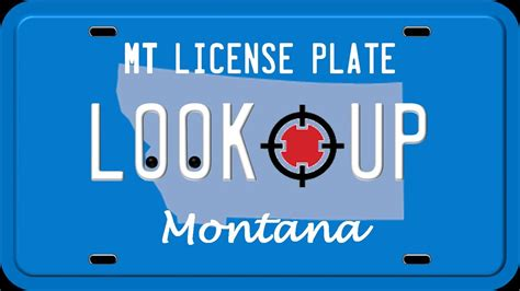 Montana Search How To Search A Montana License Plate Number