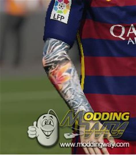 leo messi tattoo fifa 16 leo messi tattoo v1 fifa 15