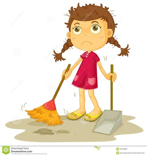 House Plans For Free girl cleaning floor royalty free stock images image