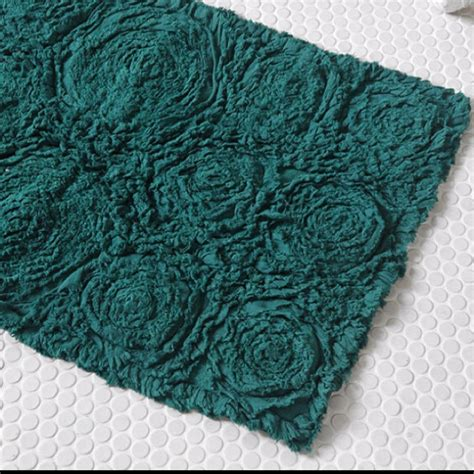 teal bathroom rugs bathroom rug turquoise teal and blue