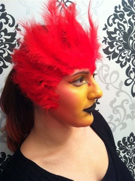 phoenix makeup tutorial inspired  fawkes harry potter