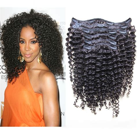 clip in curly hair extensions 7pcs 100 5a mongolian curly hair weaves clip in