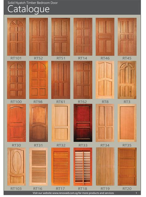 nyatoh timber doors for hdb bedroom doors and window