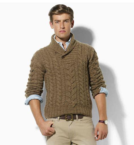 chompas tejidas a mano para hombres el regreso de los sweaters trenzados serdandi moda