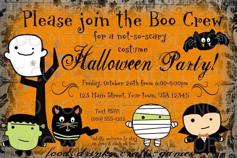 printable halloween themed birthday invitations kids halloween invitations printable festival collections