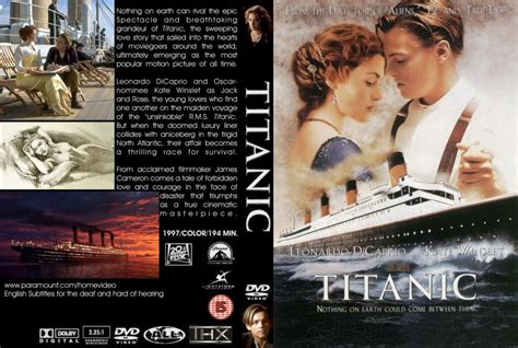 film titanic dvd titanic movie dvd custom covers 262titanic dvd covers