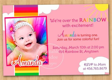 Baby Birthday Card Template Free by 1st Birthday Invitation Card Templates Free