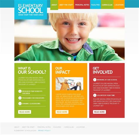 Primary School Website Template 31565 Playgroup Website Templates