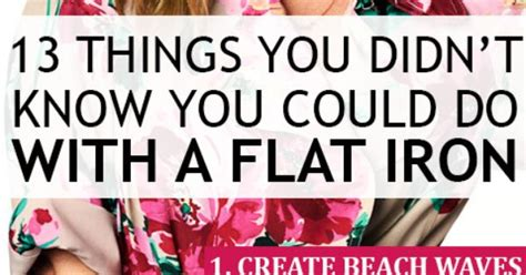 Do You Iron Everything You Wear by 13 Things You Didn T You Could Do With A Flat Iron