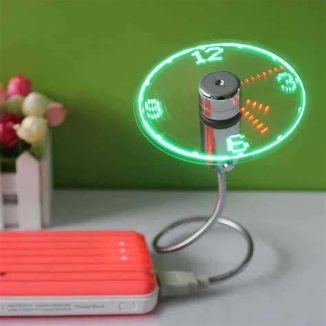 Mini Fan Senter Led Best Quality new usb gadget mini led light usb fan time clock desktop clock cool gadget time display