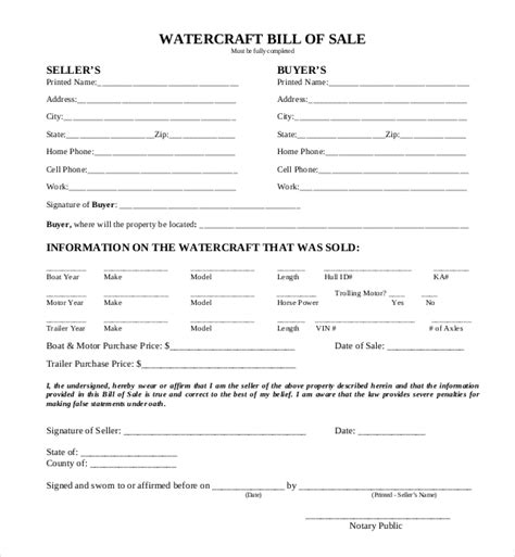 boat bill of sale form sle boat bill of sale form 15 free documents in pdf doc