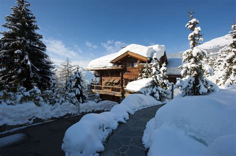 luxury alpine snow tree chalet dent blanche verbier alpine guru