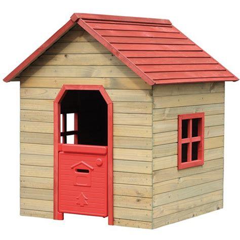 casa per bambini da giardino casetta casa in legno rossa bambini 125x120xh140cm