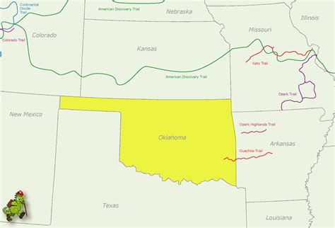map of the united states oklahoma oklahoma