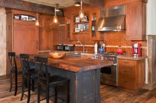 Distressed Kitchen Islands 44 reclaimed wood rustic countertop ideas decoholic