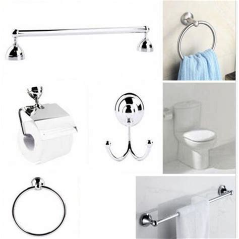 Modern Bathroom Wall Mounted Accessory Set Toilet Roll Wall Mounted Bathroom Accessories Sets