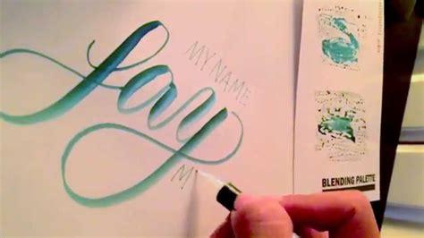 Writing Brush Pen writing brush pen calligraphy and using tombow blending