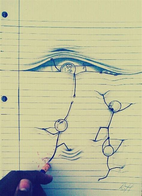 3d Sketches On Paper by Amazing Drawings On Lined Paper Xcitefun Net