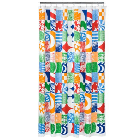 multi colored shower curtains marimekko yhdess multi colored polyester shower curtain