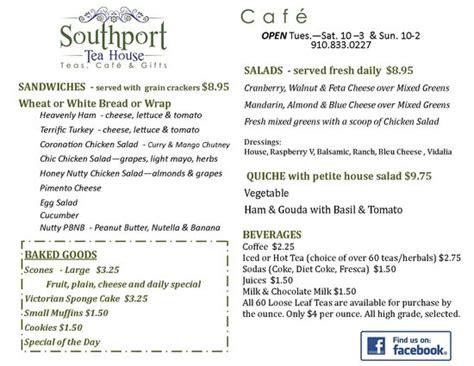 southport tea house menu picture of southport tea house southport tripadvisor