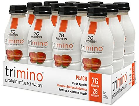 protein 20 infused water trimino protein infused water 16 ounce pack of 12