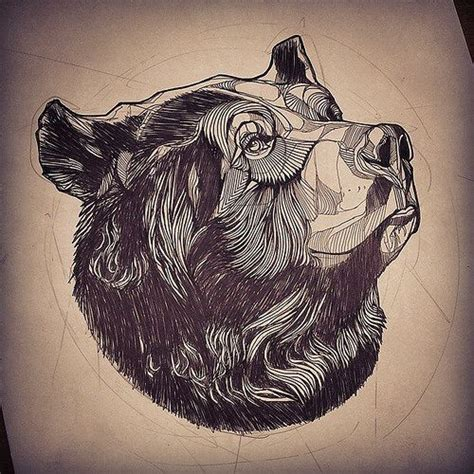 bear head tattoo best 25 sketch ideas on drawing