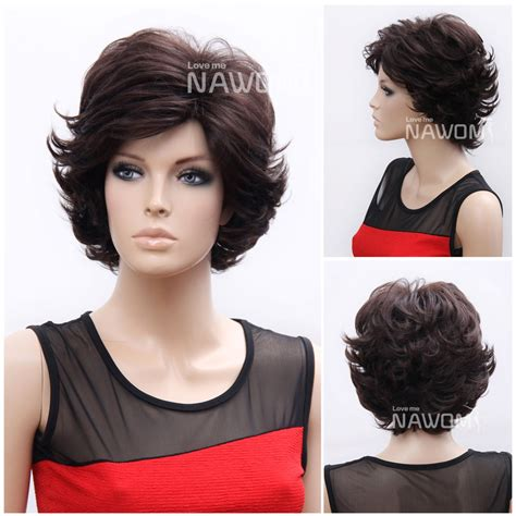 Short Weave For Sale | short weave for sale dark brown synthtic women wigs for