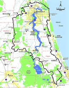 st johns river map florida lower st johns river basin florida