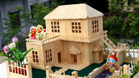 how to build a popsicle stick house how to make popsicle stick house popsicle garden villa