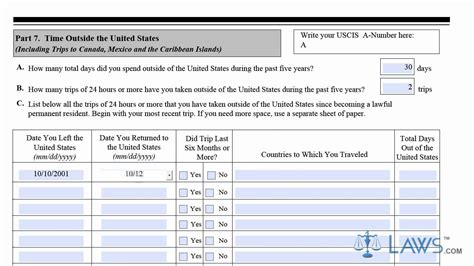 N400 Additional Sheets Template Learn How To Fill The N 400 Form Application For Naturalization Youtube