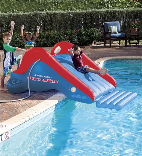 backyard water slides for inflatable pool slide backyard water park slip and slide