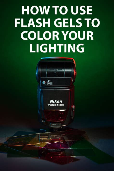 your lights flash to how to use flash gels to color your lighting discover